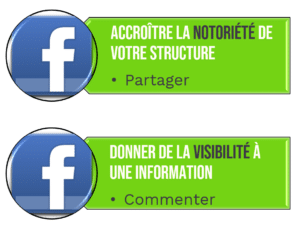 Marque employeur facebook like partage story