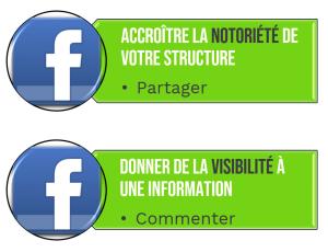 Marque employeur facebook like partage story