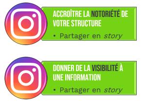 Marque employeur instagram like partage story