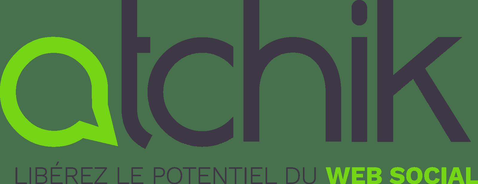 Grand logo Atchik avec baseline