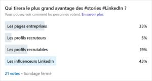 sondage linkedin atchik stories