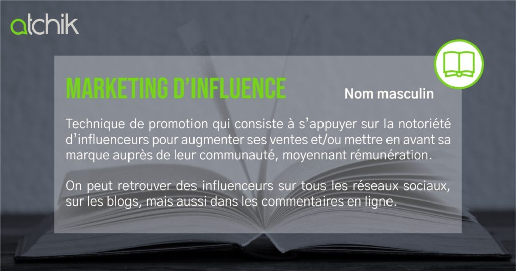 Définition marketing d'influence