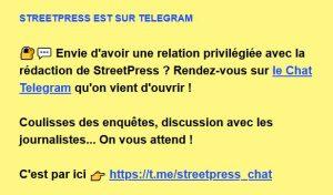 Streetpress sur Telegram