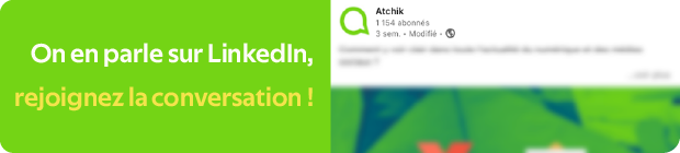 Bouton renvoyant vers le post LinkedIn d'Atchik sur les meilleures newsletters francophones du numérique